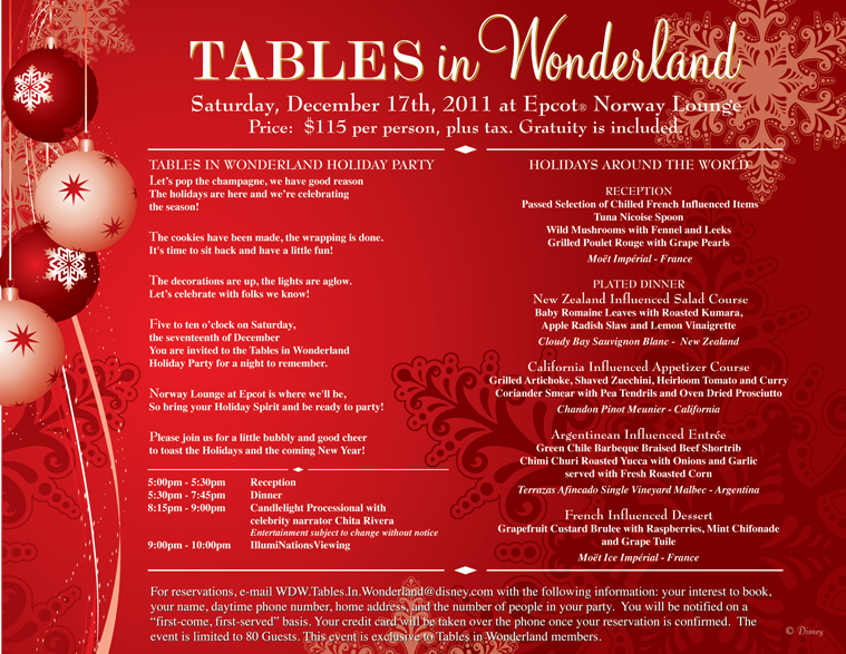 Tables In Wonderland Holiday Party