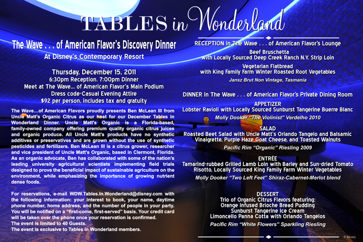 Tables In Wonderland Wave Dinner