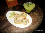 Cucumber Margarita and Crab Tostadas at La Cava del Tequila courtesy of Catherine V.